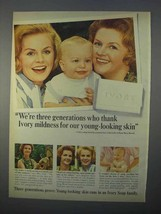 1966 Ivory Soap Ad - We're Three Generations Who Thank - $14.99