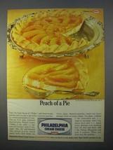 1966 Kraft Philadelphia Cream Cheese Ad - Peach of Pie - $14.99