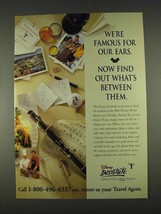 1996 Disney Institute Ad - We're Famous for Our Ears - $14.99