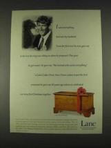 1996 Lane Cedar Chest 2592 Bountiful Ad - $14.99