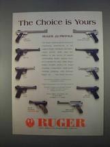 1996 Ruger Handgun Ad - KMK-10 MK-678 KP-4 P-512 MK-4B - $14.99