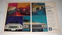 1974 GM Cars Ad - Oldsmobile Delta 88, Buick LeSabre + - $14.99
