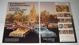 1974 Ford Wagon Ad - Gran Torino Squire, LTD, Pinto - $14.99