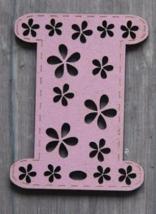 Pink Mini Painted Wooden Spool 1pc cross stitch bobbin The Bee Company - $5.00