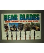 1994 Bear Archery Blades Ad - Razorhead Lite, Bruin 3 + - $14.99