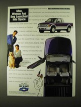 1994 Chevrolet S-10 Pickup Truck Ad - Man Woman Dog - $14.99