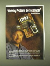 1994 Deep Woods Off! For Sportsmen Ad - Protects - $14.99