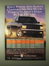 1994 Dodge Dakota Pickup Truck Ad - Power and Safety - $14.99