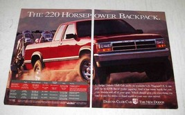 1994 Dodge Dakota Club Cab Pickup Truck Ad - Backpack - $14.99