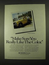 1994 Toyota Trucks Ad - Make Sure You Like the Color! - $14.99