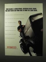 1995 Craftsman Riding Lawn Mower Ad - Twin Blades - $14.99