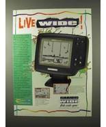 1995 Humminbird Wide View Fish Finder Ad - Live Wide - $14.99