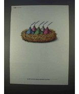 1996 Hershey's Kisses Ad - Happy Easter - $14.99