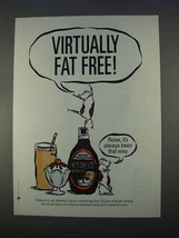 1996 Hershey's Syrup Ad - Virtually Fat Free - $14.99