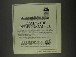 1996 Hodgdon Powder Ad - Loads of Performance - $14.99