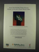 1996 Holiday Inn Ad - Even the Olympic Torch Knows - $14.99
