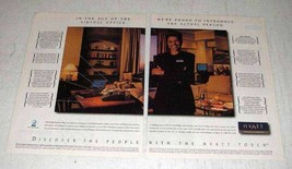 1996 Hyatt Hotels & Resorts Ad - The Actual Person - $14.99