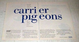 1996 IBM Computers Ad - Carrier Pigeons - $14.99