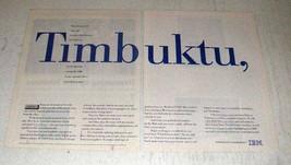 1996 IBM Computers Ad - Timbuktu - $14.99