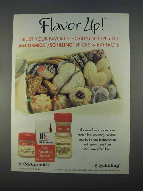 Primary image for 1996 McCormick / Schiling Spices Ad - Flavor Up!