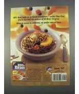 1996 Nabisco 100% Bran Cereal Ad - No Artificial - $14.99