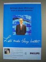 1996 Philips Electronics Ad - Brilliant Ideas Start - $14.99
