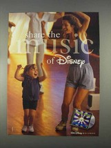 1996 Walt Disney Records Ad - Share the Music - $14.99