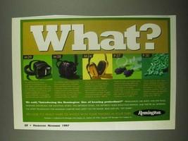 1997 Remington Hearing Protection Ad - M-29, M-28, M-24 - $14.99
