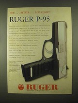 1997 Ruger P-95 Pistol Ad - Better Less Costly - $14.99