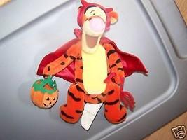 Disney Store Winnie Pooh Devil Tigger Halloween Bean Bag Plush Tiger EUC - $17.00