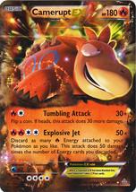 Camerupt EX 29/160 Holo Rare Primal Clash Pokemon Card - $3.99