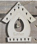 Vintage Cream Easter Birdhouse 1pc cross stitch wooden ornament The Bee ... - $6.00
