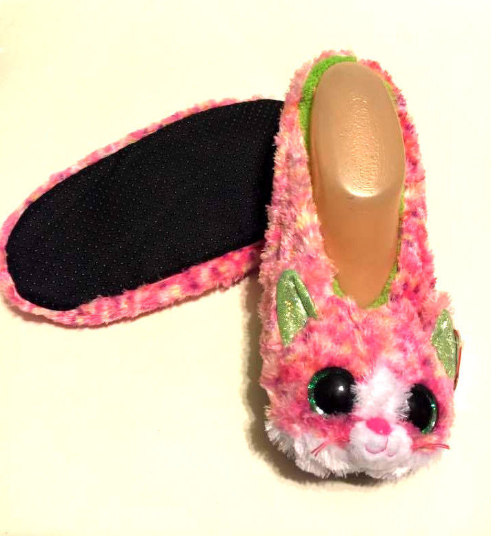 2263e713f742 Ty Beanie BOOS SHOPHIE Girl s Slippers Size Large 4-6 Pink Faux Fur Age 3+  -  14.49