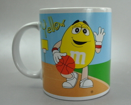 M&M Yellow Basketball Green Baseball 2002 Coffee Mug Cup - $6.25