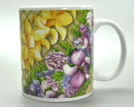 Lei of Aloha ABC Stores of Hawaii Floral Coffee Mug Cup - $6.25