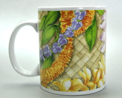 Lei of Aloha ABC Stores of Hawaii Floral Coffee Mug Cup