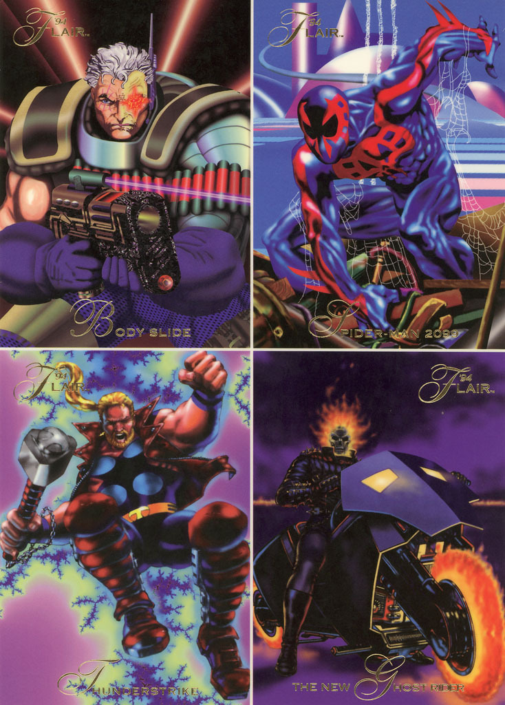 1994 Marvel Flair Uncut Promo Sheet