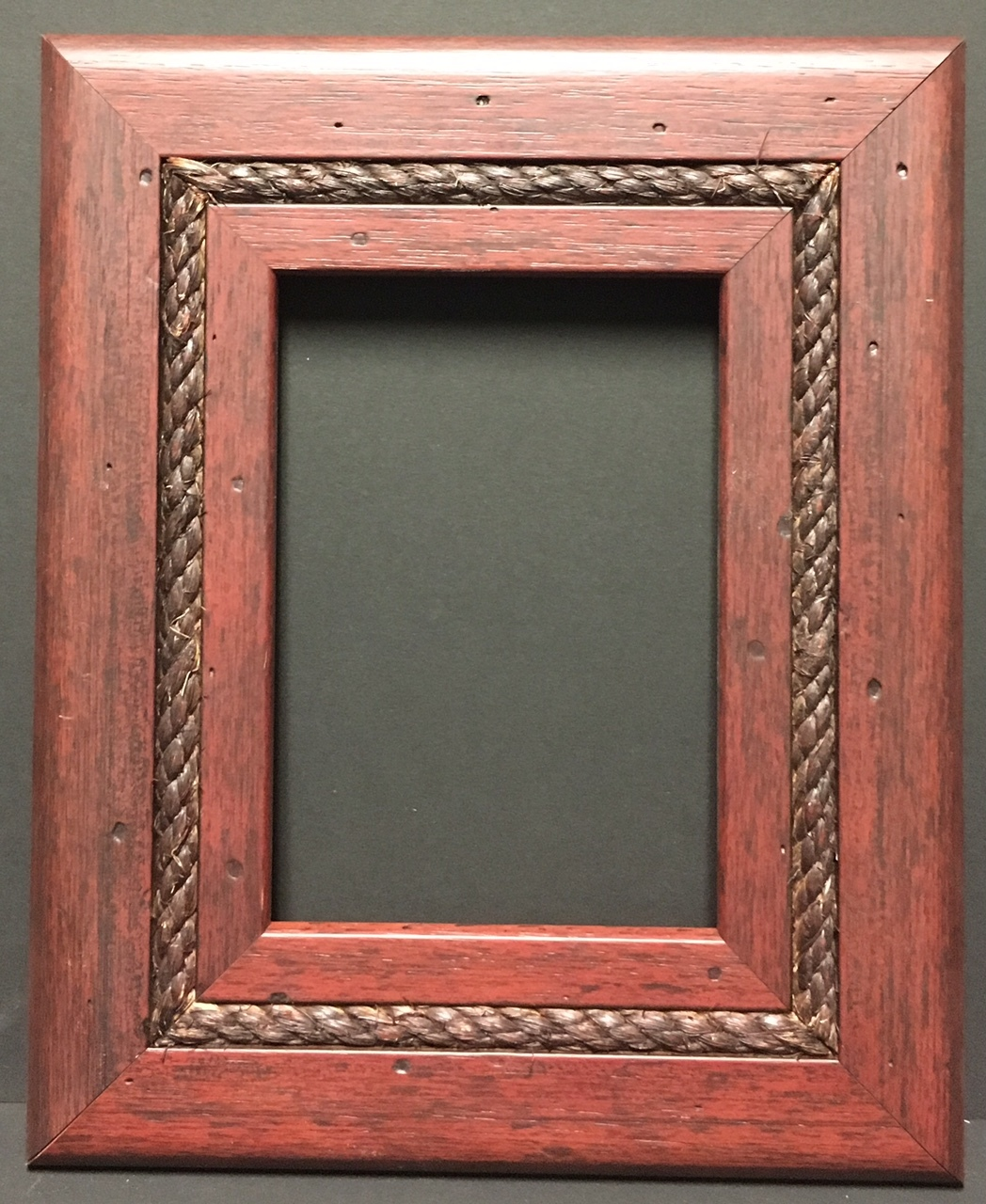 f026 16 x 20 2 1 2 mahogany rope picture frame frames. Black Bedroom Furniture Sets. Home Design Ideas