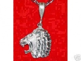 King Lion Strength Bust Sterling silver charm jewelry - $22.03