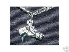 GOOD LUCK Horse Racing Charm Pendant Silver Jewelry - $13.41