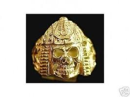 Samurai Skeleton Warrior Ring Skeletor Gold Plated - $21.05