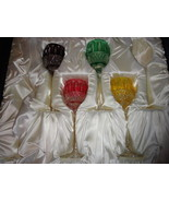 Faberge Xenia Goblet  Glasses set of 4  new in the original box - $995.00