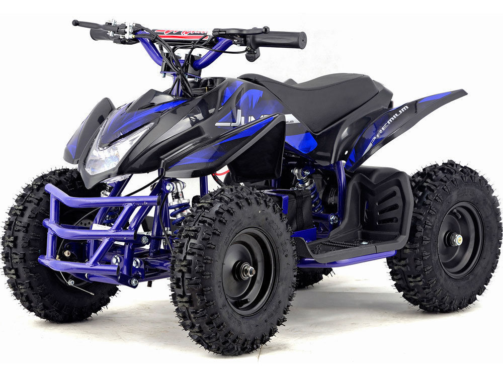 mototec 24v mini quad titan v5 blue electric powered atv kids ride on toy complete go karts. Black Bedroom Furniture Sets. Home Design Ideas