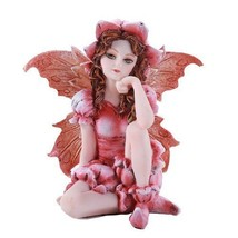 "Pink Flower Garden Fairy Small Statue Home Fairy Garden 2.75"" - $16.79"