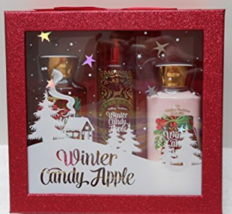 Bath And Body Works Winter Candy Apple 3 Piece Gift Set New in Box 10 oz... - $45.00