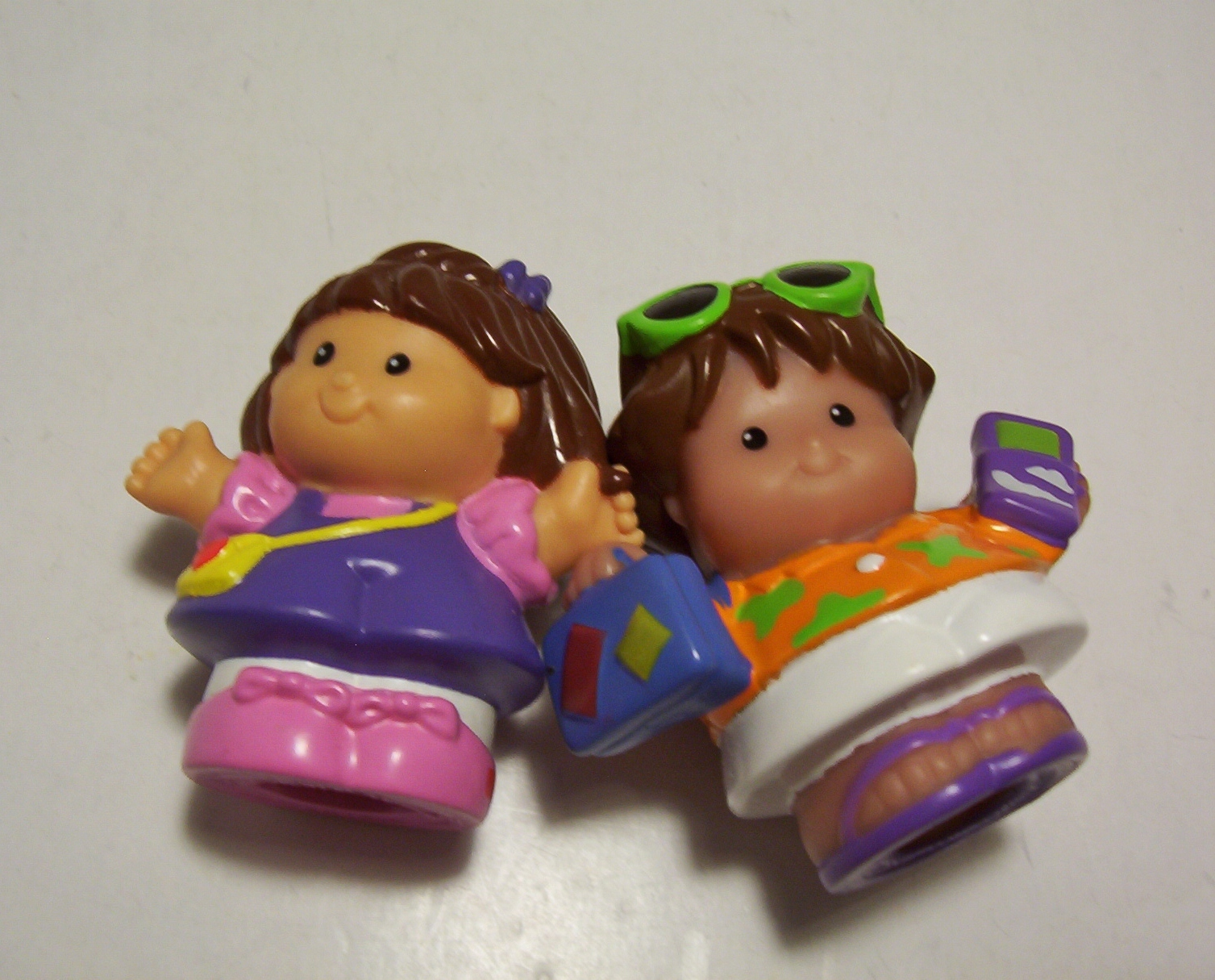Fisher Price Little People Happy Sounds Minivan Figures Music Sound Pink 2002