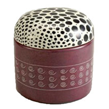 Decorative Box Spotted Animal Round Stone Keepsake Boxes - $24.69