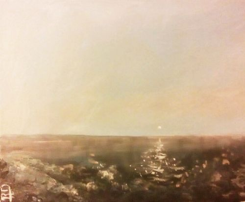 "ORIGINAL 10"" MODERN SIGNED CANVAS PAINTING  -: rdoward fine art"
