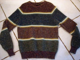 Hudson's BROWN/GRAY Crew Neck Sweater Size L - $16.44