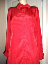 GEORGE RED LONG SLEEVE POLYESTER SHIRT SIZE 18W=20W - $14.50